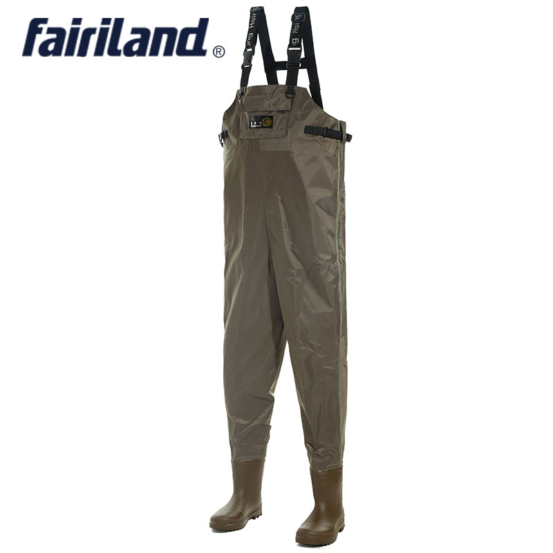 All in one chest fish waders with wading pants wading for Fly fishing pants