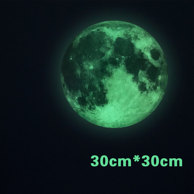 3D Luminous Planet Wall Stickers World Moonlight Glow In The Dark Moon  Earth Wall Decals For