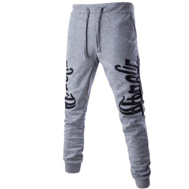 Mens Joggers   Pants 2017 Brand Male Cargo Pants Solid Slim  Tights Printed Trousers Compression Men Jogger   UU