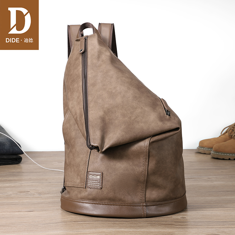 DIDE Anti-theft Backpack Male Travel Waterproof 14-15 Laptop Backpack Leather Vintage Casual Simple Fashion School Bag MenDIDE Anti-theft Backpack Male Travel Waterproof 14-15 Laptop Backpack Leather Vintage Casual Simple Fashion School Bag Men