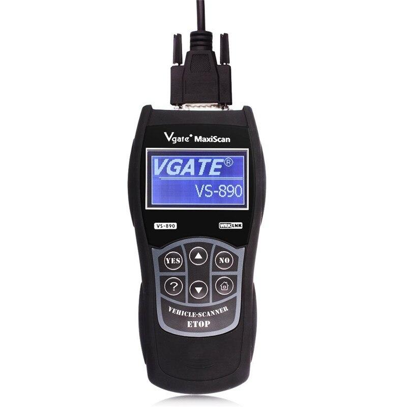 Outil de Diagnostic Profssional OBD2 EOBD VS890 MaxiScan Vgate OBD SCAN multi-langue VS 890 lecteur de Code de voiture livraison gratuite