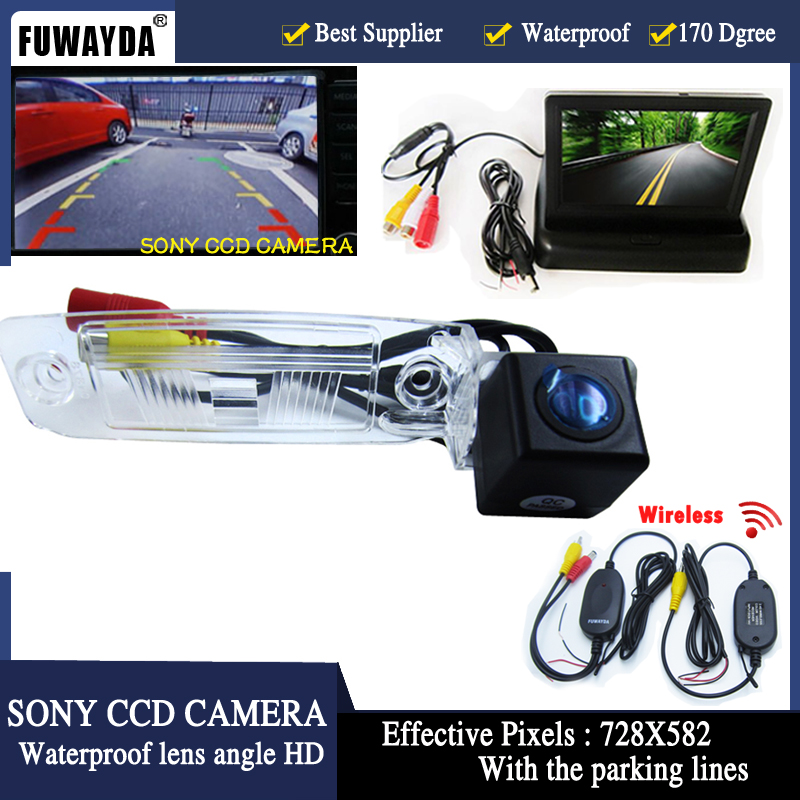 FUWAYDA Auto Parking SONY HD CCD Car Rear View Camera With 4.3 inch Car Rearview Mirror Monitor For KIA Sportage R 2010-2014