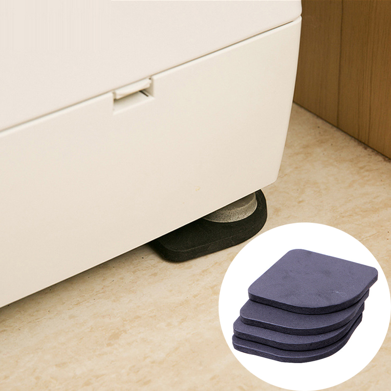 4pcs Furniture Legs Mat Washing Machine Anti-shock Pad Reuasble Anti Vibration Non-slip Shock Mat Refrigerator Leg Protection Ma