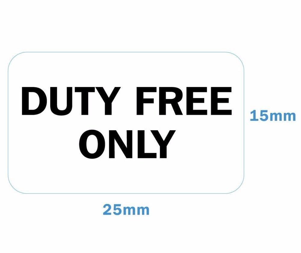 1200 этикетки/лот DUTY FREE только 25x15 мм Самоклеящиеся наклейки для продаж в магазине, артикул GU02