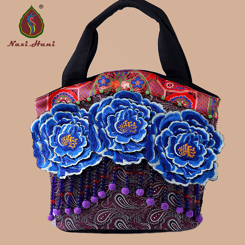 Naxi.Hani brand Bohemia classic Blue big flower women bags Ethnic handmade beads embroidered Shoulder bags chainsaw starter handle grip pawl set with spring washer fit stihl 017 018 021 023 025 ms180 ms250 parts