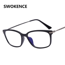 e4993c52ff SWOKENCE Brand Fashion Design Women Men Casual Retro Style Myopia Optical Glasses  Frame Metal No Diopter