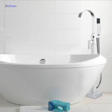 Foyi brand bathroom tub shower set products bath mixer banheira floor bathtub faucet Floor Stand Faucets