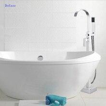 Foyi brand bathroom tub shower set products bath mixer banheira floor bathtub faucet Floor Stand Faucets