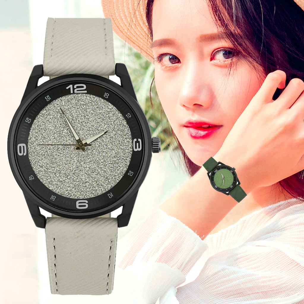 2018 Relogio Feminino Watch Simple Style Fashion Casual Women's Watch Quartz-Watch Female Clock Leather Strap Watch Bracelet