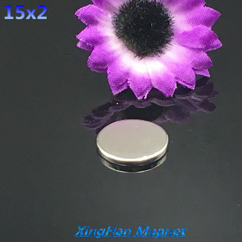 """20pcs 15mm x 2mm  15x2 cylinder Neodymium Permanent super Magnet 15*2 or 3/5""""x2/25"""" NEW Art Craft Connection free shipping"""