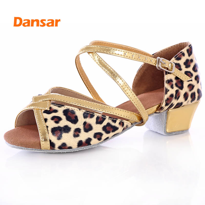 High Quality Professional Jazz Ballroom Tango Salsa Latin Dance Shoes For Girls Children Child Kid Women's Soft Bottom Low Heel