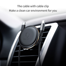 Baseus Car Phone Holder for iPhone X 8 Samsung GPS Mobile Phone 360 Degree Universal Magnetic Holder Stand Car Air Vent Mount