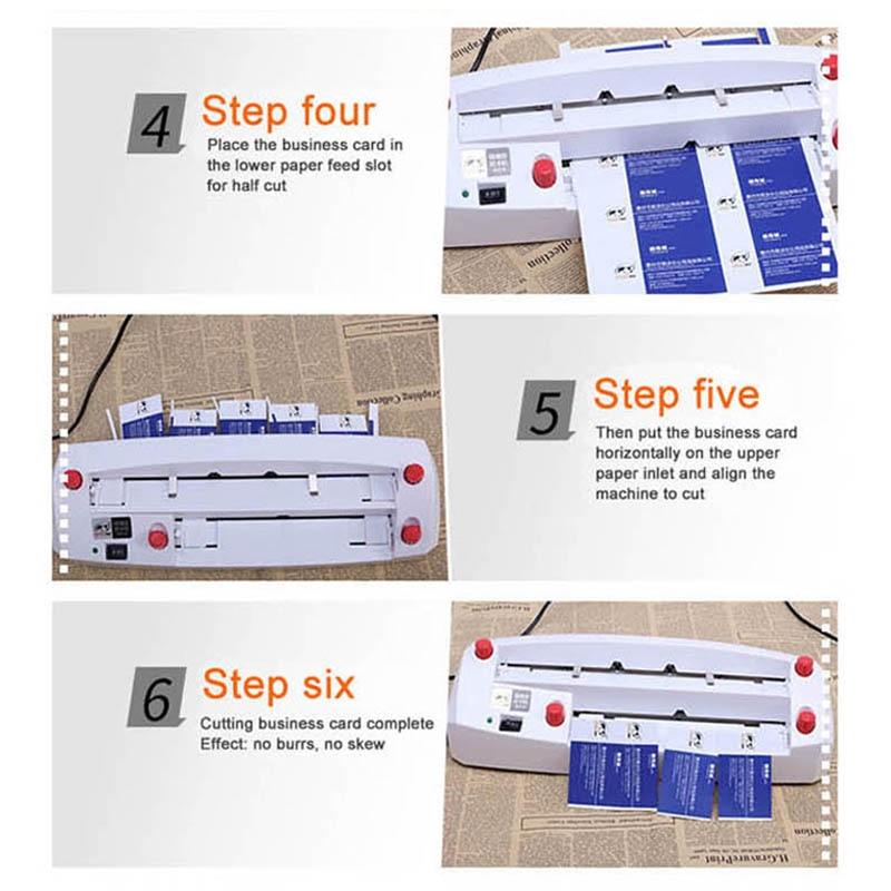 A4 größe elektrische visitenkarte schneiden maschine SK316 90*54mm karte größe SK316 Heavy duty feine tuning karte cutter 220 240 V 20 W HEIßER - 5