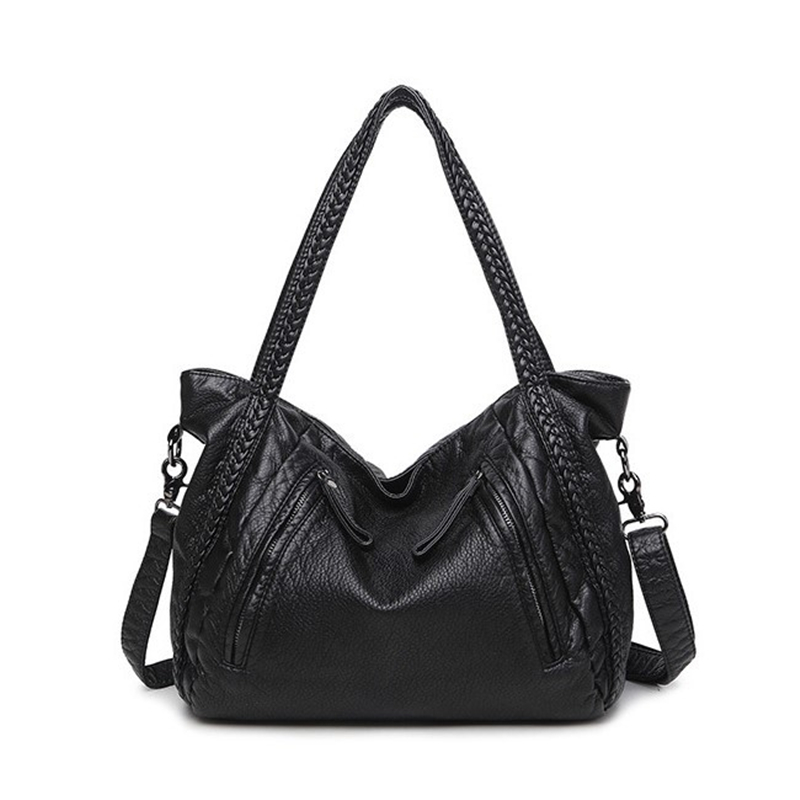ФОТО New big Size Women Bag High Quality PU Women's Leather Handbags Fashion Weaving Shoulder Messenger Bag