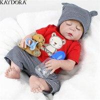 Кукла KAYDORA Reborn 55 см, силиконовая кукла для маленьких мальчиков, реалистичные игрушки для малышей, 3 года, Детские Игрушки для ванны, мягкий во