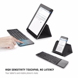 Image 5 - Kemile portátil duas vezes dobrável teclado bluetooth bt sem fio dobrável touchpad teclado para ios/android/windows ipad tablet