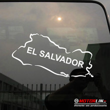 El Salvador Map Stiker Stiker Vinil Pick Ukuran Warna Die Memotong Tidak Background(China)