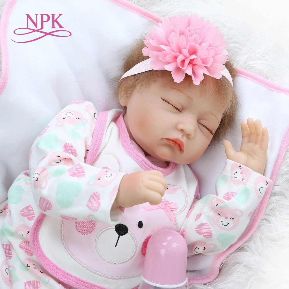 NPK Real lifelike reborn Baby Dolls About 22inch Lovely Doll reborn For Baby Gift Bonecal Bebe Reborn Brinquedos new gbj free shipping home aluminum medical cabinet multi layer medical treatment first aid kit medicine storage portable