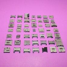 49 מודלים YuXi מחבר מגש קורא כרטיס ה sim socket עבור samsung S6 I9128/L39 Sony C6502 L36/נוקיה/P6 P7/...