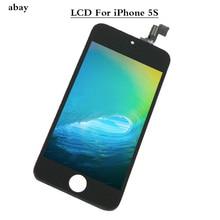 עבור iPhone 5S LCD תצוגה עבור iPhone 5S מגע מסך Digitizer עצרת החלפת LCD 5S A1457 A1528 A1518 מגע פנל