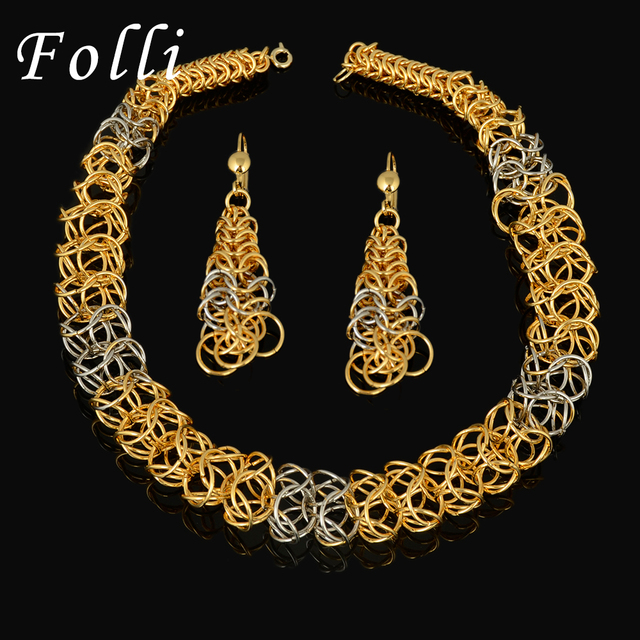2016 New High Quality Italy 750 Real Gold Jewelry Sets Fashion