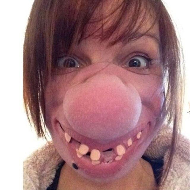 Funny Clown Mask Halloween Scary Masks  Half Face Horrible Mascara Masquerade Party Horror Masque Latex Realistic Silicone Maska