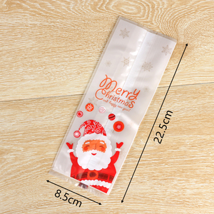 Image 4 - 50pcs/lot Merry Christmas Baking Packaging Bags Cartoon Christmas Santa Claus Snowman Snack Candy Bag Cookies Candy Storage Bag