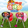 New Arrival pink&red Children Play Toy Barbecue Oven Bbq Simulation Puzzle Game Set Electric Cooking Parent-child Interaction