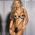 Sex Hot Robe Babydoll New Erotic Costumes Sexy Women's One Piece Strap Lingerie Set + Underwear Sleepwear Baby Doll 24