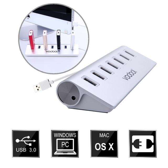 VODOOL Марка High Speed USB 3.0 7-портовый Концентратор Портативный Алюминиевый Usb-концентратор