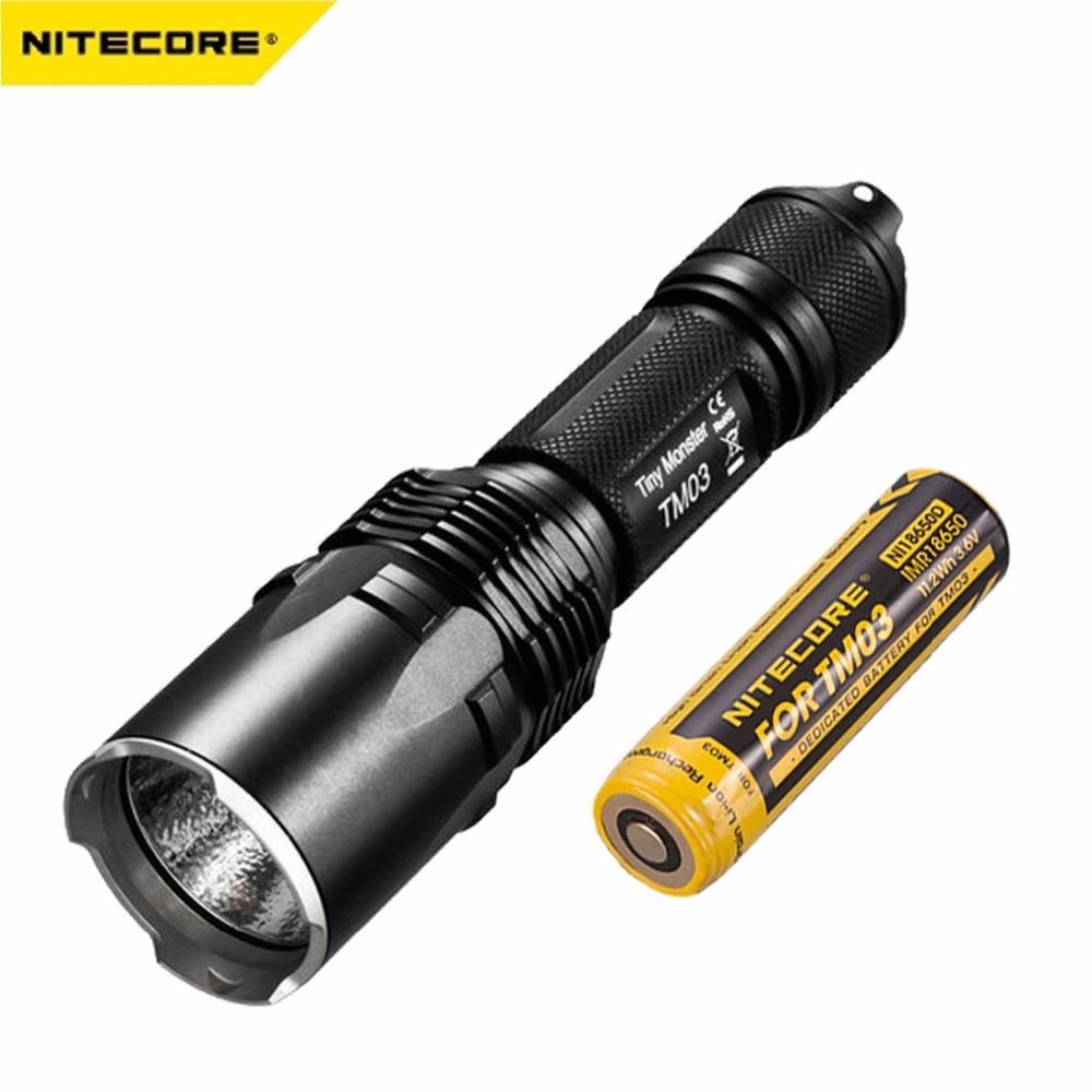 tm03 nitecore cree leds xhp70 tactical lanterna led 2800 lumens com tm03 18650 para a caca