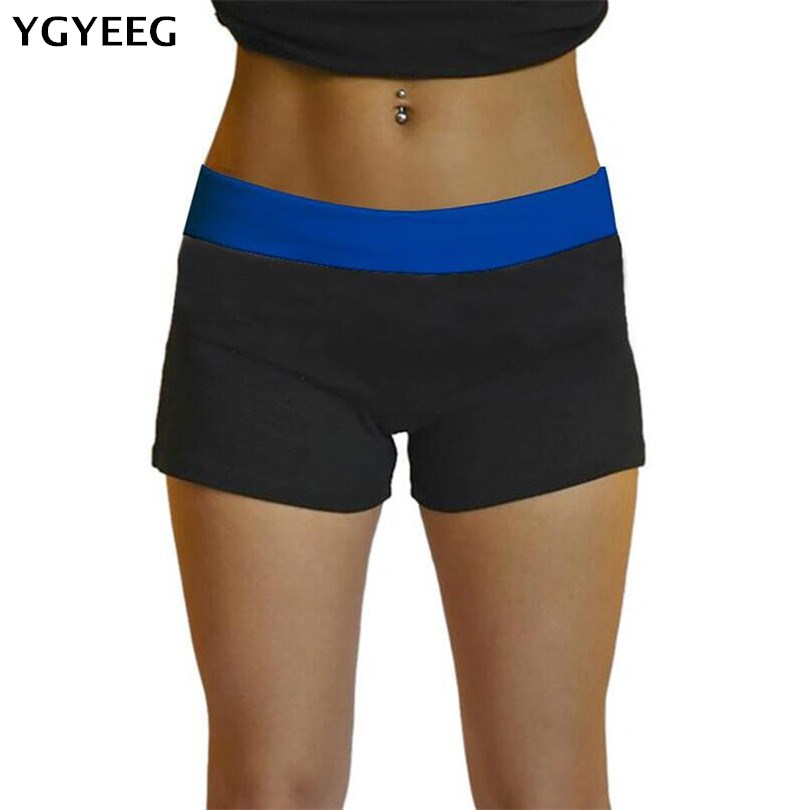 YGYEEG Women Summer Shorts Fashion Stretch Waist Casual Shorts New 2019 Patchwork Starry Sky Black Sexy Short Women'S Clothing
