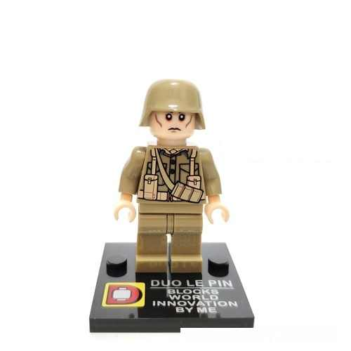 World War II British Army Soldiers Gun Mini figures military weapons parts playmobil city Bricks building Block original toys