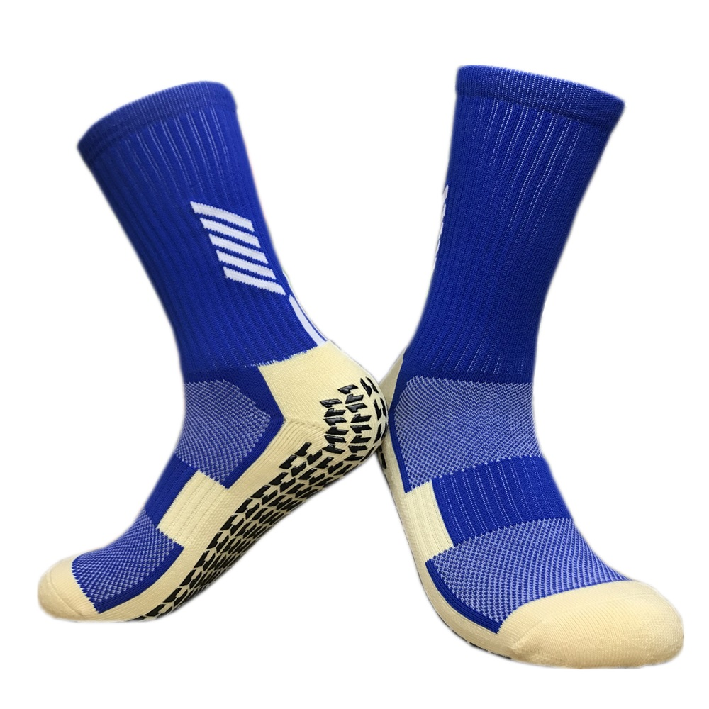 TJ - Tingjun Brand Sports Socks Pure Cotton Socks Is A New Type Of M Word Rubber Sole Non-slip Football Training Socks CJM614