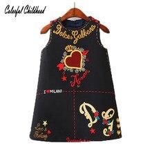 66804b6f3 Baby Girls Dresses Sleeveless O-neck Toddler Dress Lovely Heart Through The  Heart Design Embroidery Children Clothes Baby Jurk
