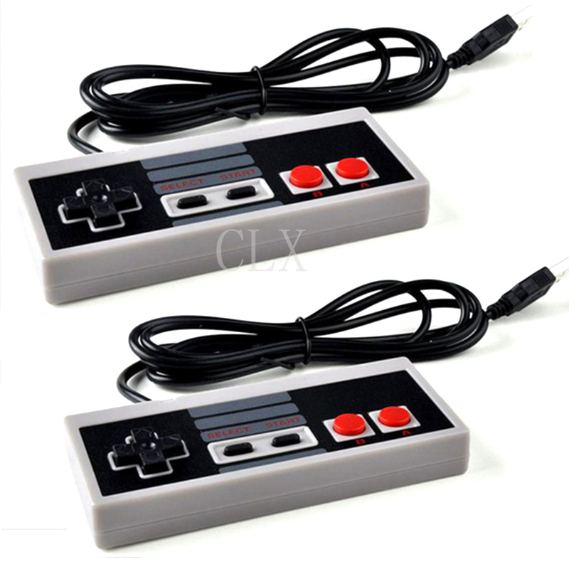 2PCS 1 Lot Retro Wired Super For SNES USB Controller Gaming Joypad Joystick For PC Window 7/8/10 Gamepad
