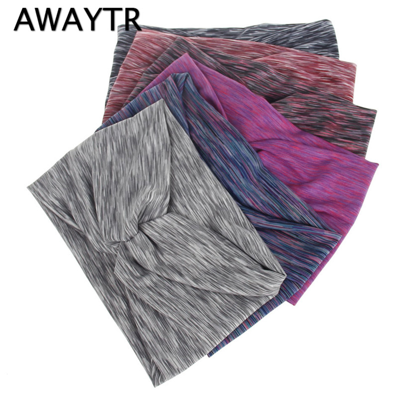 AWAYTR Wide Cotton Stretch Women Headband Hair Accessories   Headwear   Twisted Knotted Striped Hair Turban Bandana Headpiece