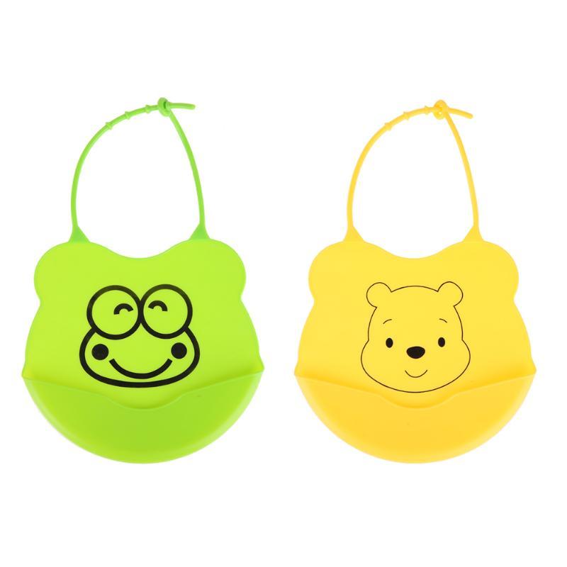 Newborn Cartoon Waterproof Apron Baby Bibs Silicone Feeding Saliva Towel Baby Bibs Feeding Baby Saliva Towel