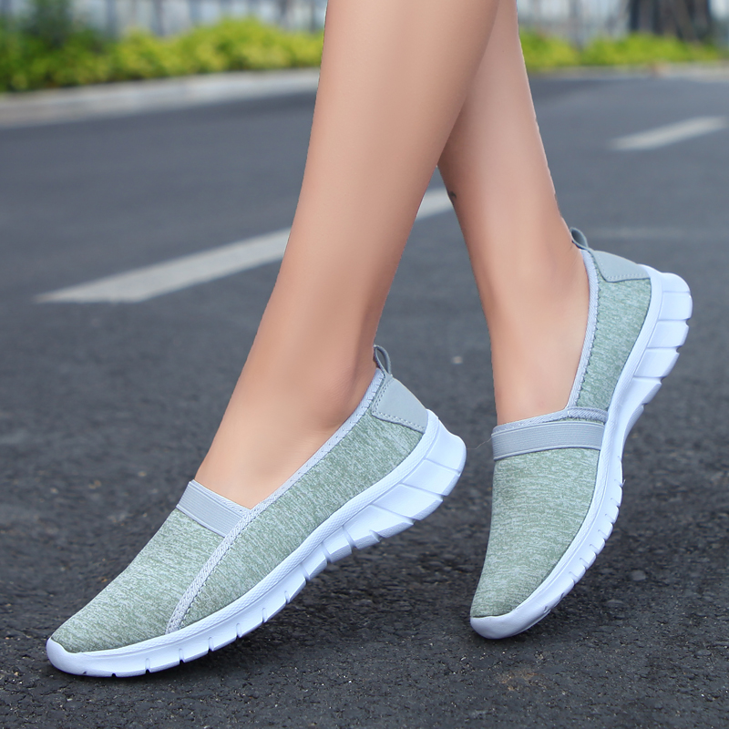 2018 brand mesh breathable Summer shoes women loafers Slip on casual Shoes ultralight flats shoes New zapatillas shoes size35-42 pinsen brand women casual loafers breathable summer flat shoes woman slip on casual shoes new zapatillas flats shoes size 35 42
