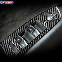 Carbon Fiber Car Protector Window Switch Control Panel Auto Stickers For Audi Q7Interior Decoration2008 2015 LHD RHD Accessories