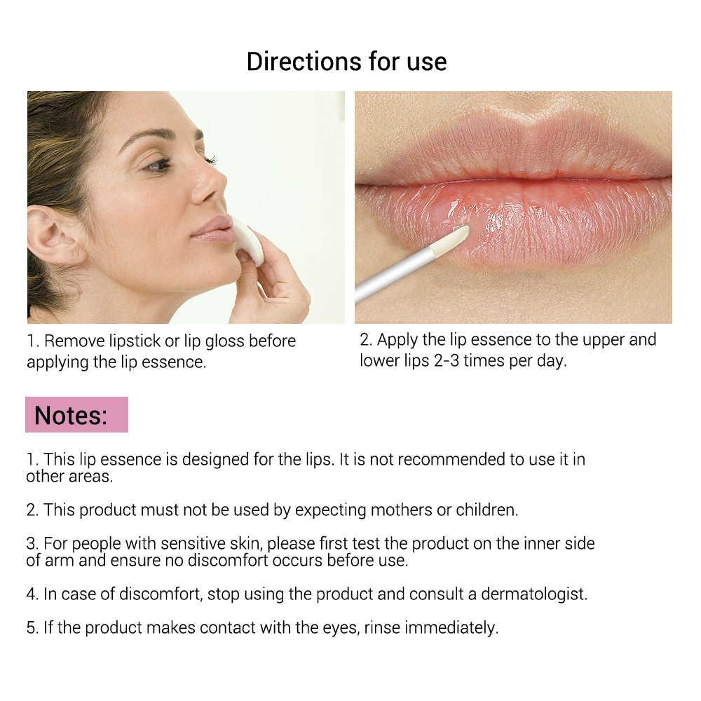 LANBENA pielęgnacja ust Serum naprawa wargi Plumper zmniejszyć drobne linie maska na usta nawilżający wzrost wargi elastyczność odporność na starzenie 2 sztuk