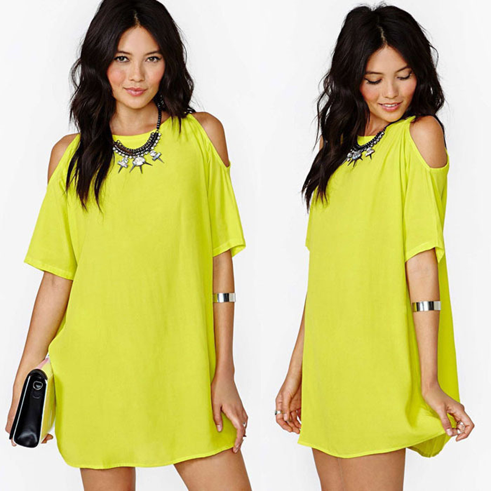 2018 Summer Sexy   Blouse     Shirt   Off Shoulder Hollow Out Women Short Sleeve Chiffon Blusas Tops   Shirts   Sundress Party Mini Dress