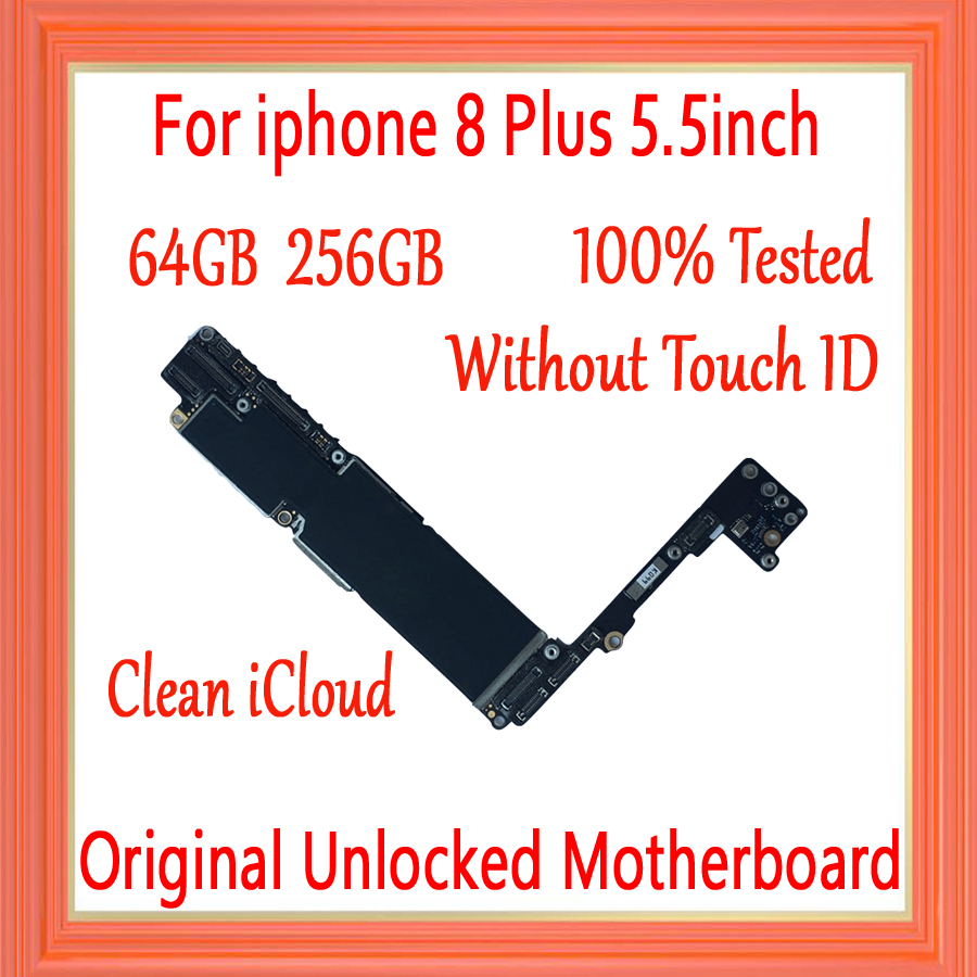 NO iCloud for iphone 8 Plus Motherboard Without Touch ID for iphone 8Plus Logic board 64GB 256GB 100% Original unlockedNO iCloud for iphone 8 Plus Motherboard Without Touch ID for iphone 8Plus Logic board 64GB 256GB 100% Original unlocked