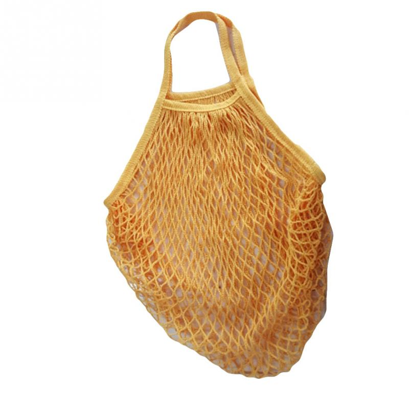 NEW 1PC Reusable String Shopping Grocery Bag Shopper Tote Mesh Net Woven Cotton Bag Hand Totes