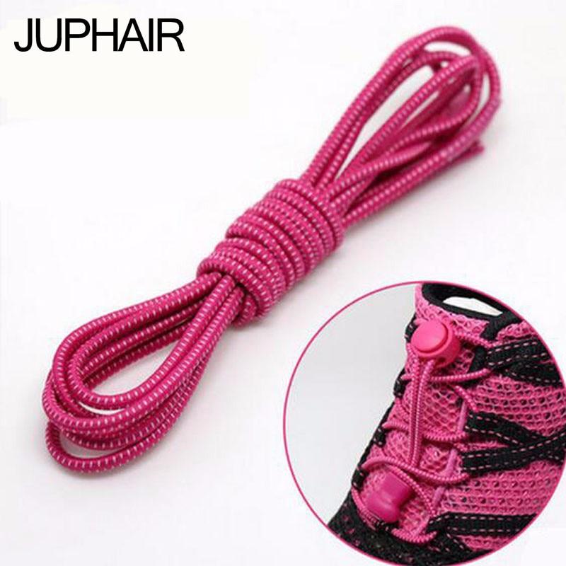 JUP 6 Pair Men Women Sport of Lock No Laces Unique Hole Lock Laces Lace No Elastic Tie Lace With Locks  Custom Lock Shoelaces