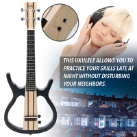 4 Strings 26in Beautiful Sound Ukulele Acoustic Electric Little Guitar Connect the Earphone and Speaker Ukulele for Performance