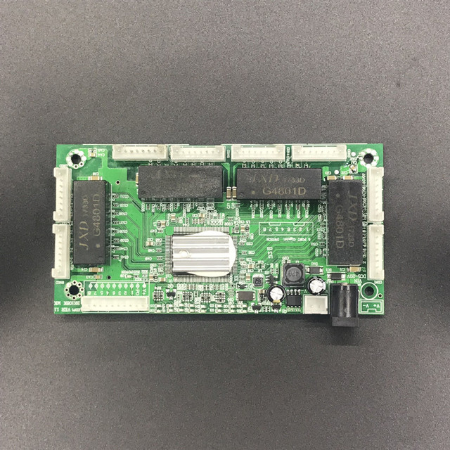 OEM PBC 4/8 Port Switch Gigabit Ethernet Porta con 4/8 pin way intestazione 10/100/1000 m Hub 4/8way pin di alimentazione Pcb board OEM foro della vite