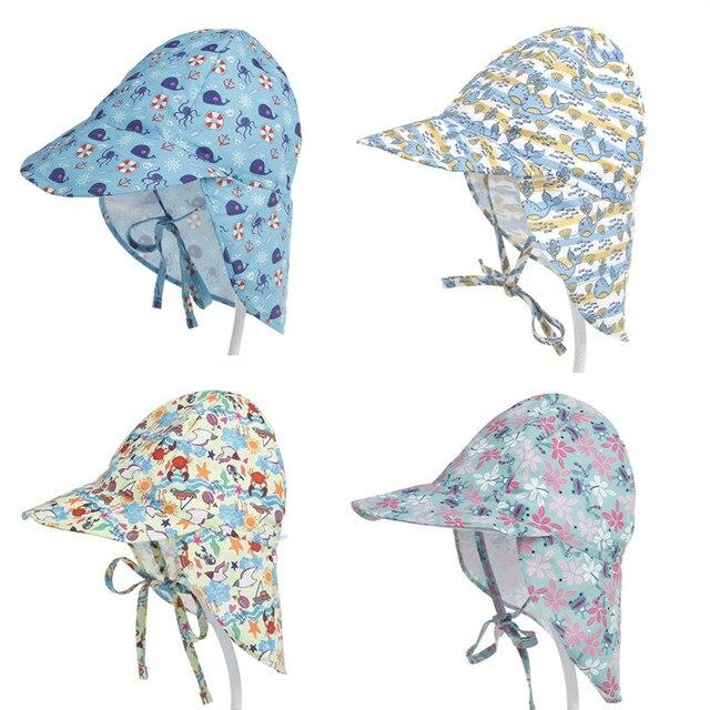 flower Cartoon Toddler Baby Kids Swimming Cap Flap Sun Protection Beach Sun  Hats for Boys Girls Children Outdoor Hat Anti-UV 5da4e2d6f8e