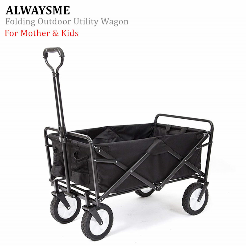 ALWAYSME Trolley-Cart Luggage Folding Utility Outdoor for Travel And title=