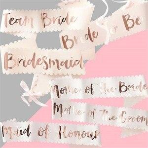 Image 1 - チーム花嫁はローズゴールドサッシ編独身パーティーの装飾ウェディングブライダルショルダー結婚花嫁はパーティー用品